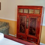 Antique armoire for storage