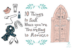Travel Illustration: 10 Things to Pack When You're Traveling to Morocco
