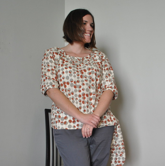 The Honey Blouse in Amy Butler Martini