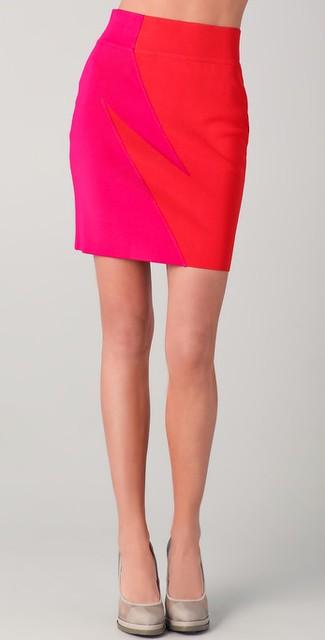 Combo Knit Skirt