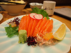 meal, salmon, sashimi, fish, food, dish, cuisine, smoked salmon,