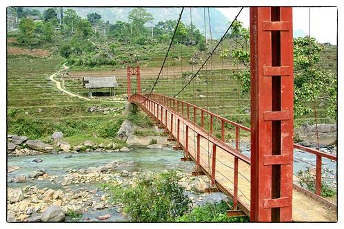 The bridge in Giang Ta Chai, Sapa