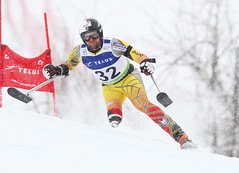 Matt Hallat skis in the super-G portion of an IPC World Cup super combined in Panorama, B.C.
