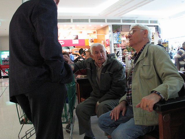 Old men at the shopping centre #1