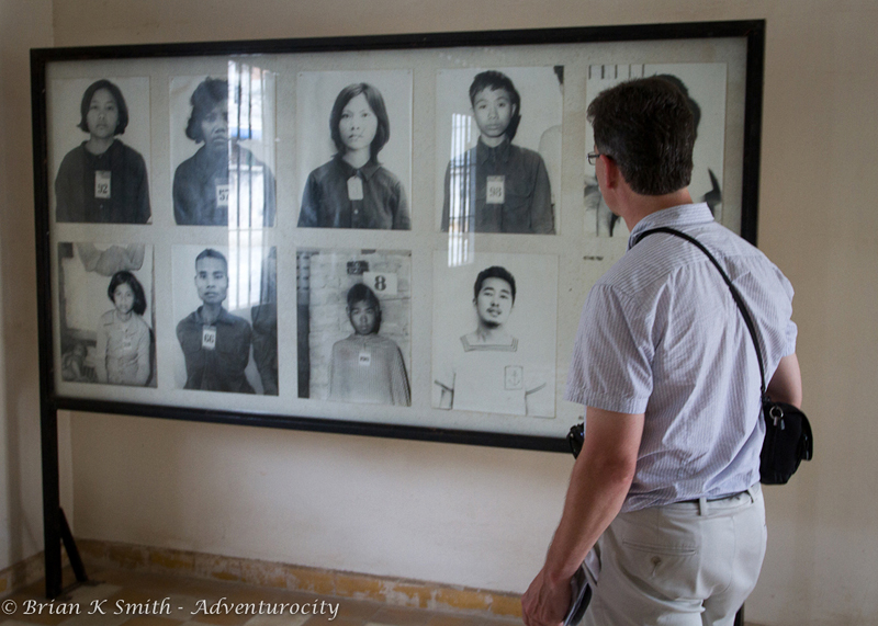 Khmer Rouge victim photos displayed at Tuol Sleng Genocide Musuem, Phnom Penh