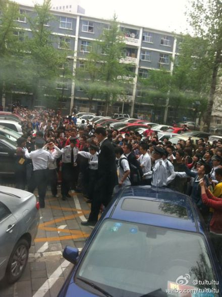 April 19th, 2012 - Yao MIng draws a crowd at a university in Beijing