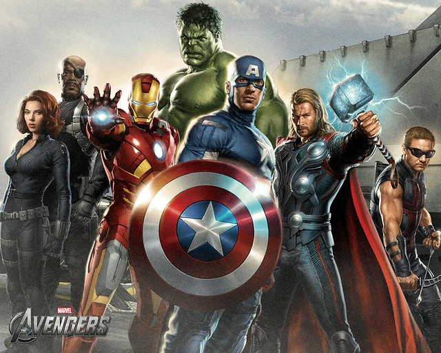 The Avengers movie art from Flickr via Wylio