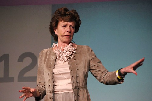 Neelie Kroes auf der re:publica 2012 #rp12 in Berlin
