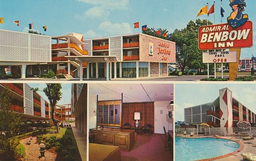 vintage inn kentucky postcard motel louisville admiral roomview gardenview poolview benbow signview quadview