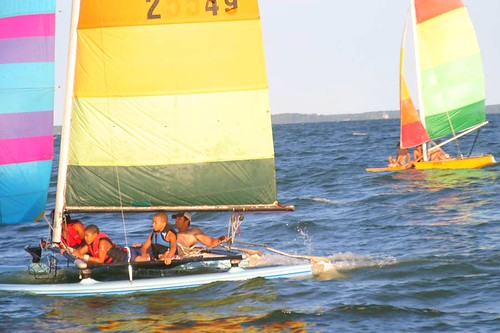 Catamaran Sailing, Far East Beach Concierge Campground, Piney Point