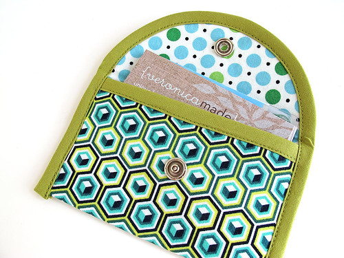Green Hexagons Card Case