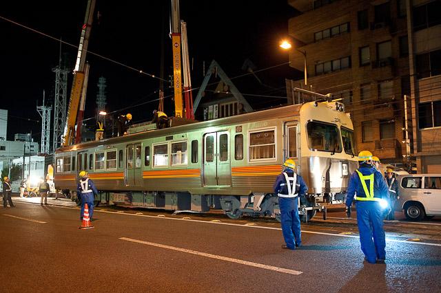 伊予鉄道3000系 3010F クハ3310 搬入