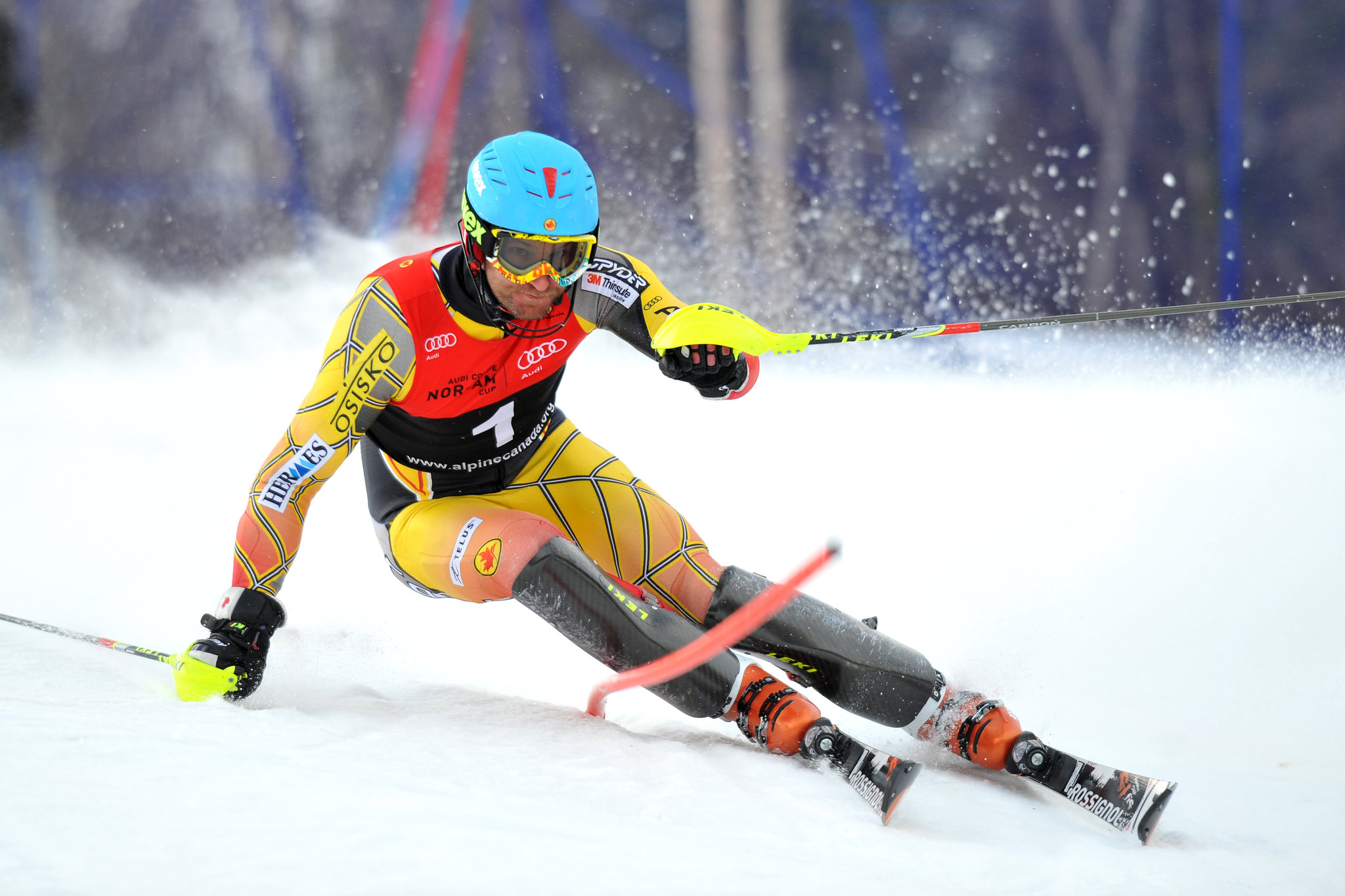 Mike Janyk finishes third in the Canadian Championships slalom in Mont-Sainte-Anne, Que.