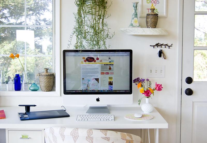 desk and designing nook