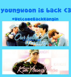 ".Shout out ""KANGIN YOUNGWOON"""