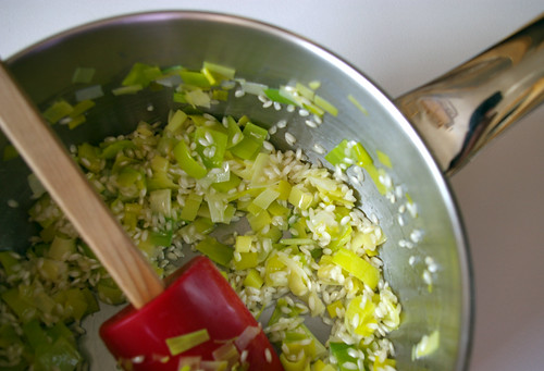Leeks and Arborio Rice