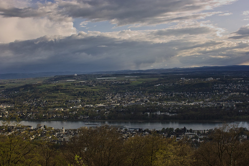 View from Petersberg, Bonn, Germany