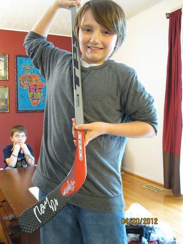 4/20/12: Alexander Semin signed stick!