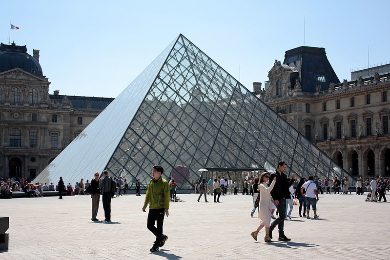 Louvre and I.M. Pei's pyramid