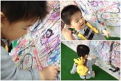 壁にクレヨンで落書き!(2012/4/29)