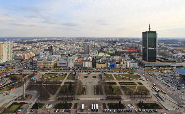 // OBSERVE // RARE ARCHITECTURE // The Palace of Culture and Science // Warsaw // Poland // Space & Design // VIEWS OVER WARSAW FROM THE 30th FLOOR // THE MARRIOTT HOTEL : TO THE RIGHT // WITH THE NOVOTEL CENTRUM TO THE LEFT //