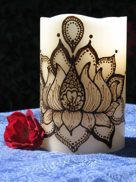 Lotus Flower Henna Designs