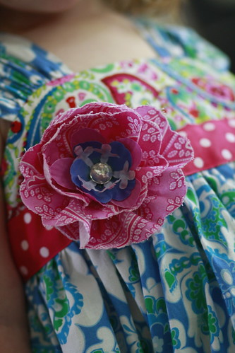 Fabric flower up close