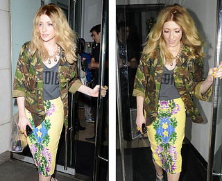 Nicole Roberts Clashing Prints Celebrity Style Women's Fashion