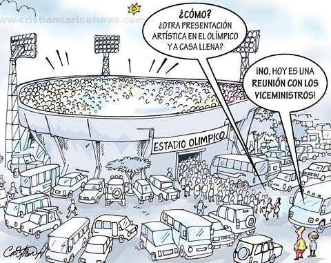 Caricatura estadio