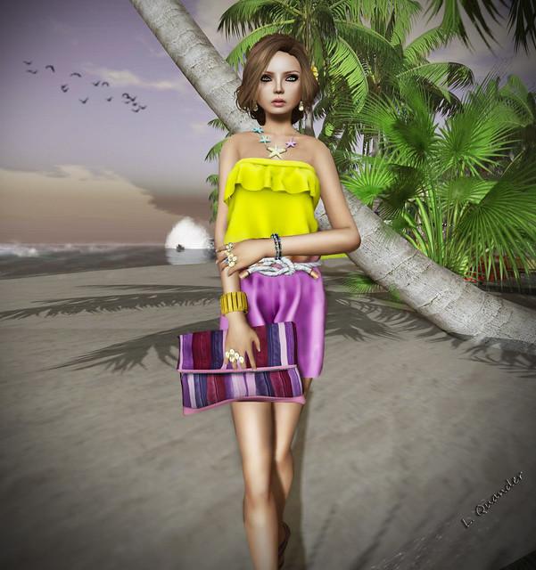 CHIC2 - IREN  - Summer Romper - pink Yellow