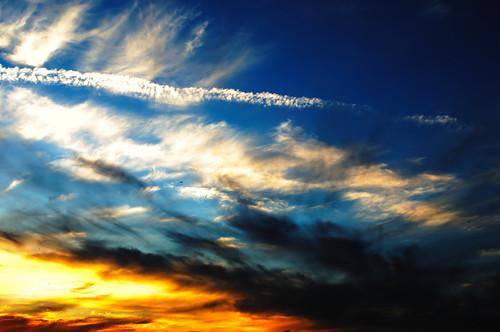 無料写真素材, 自然風景, 空, 雲, 朝焼け・夕焼け
