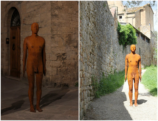 San Gimignano sculptures by Antony Gormley