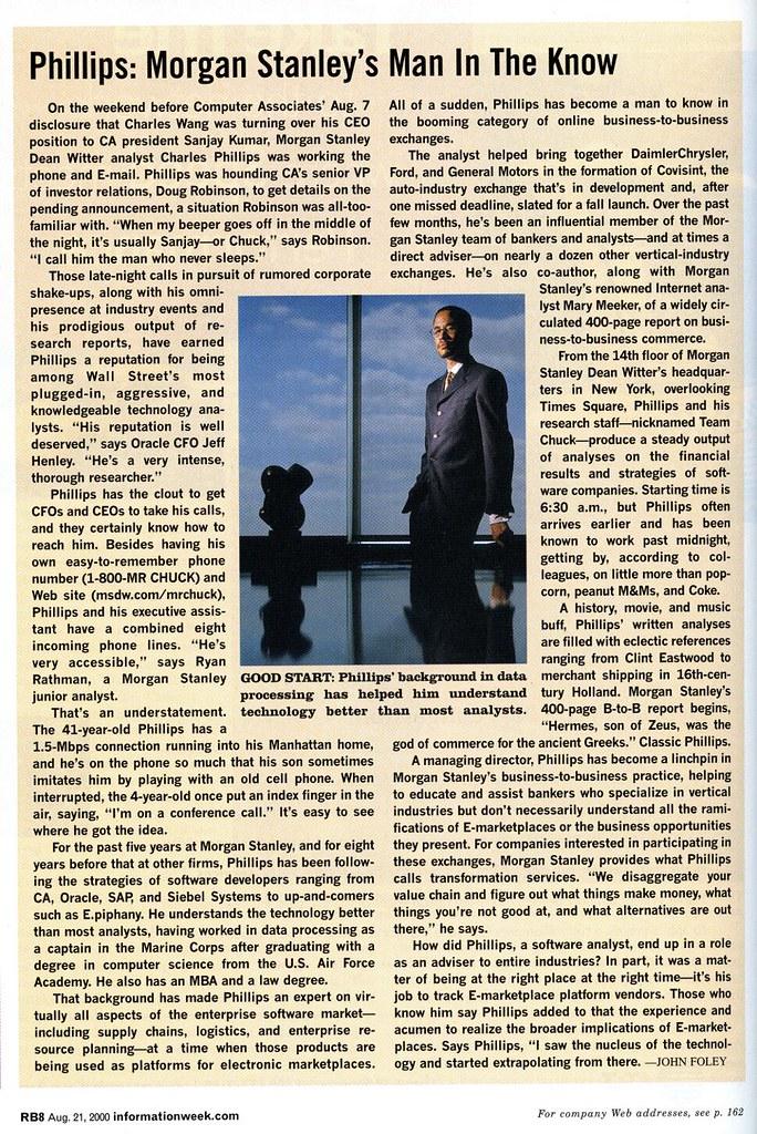 Charles Phillips Magazine Article   Phillips: Morgan Stanley