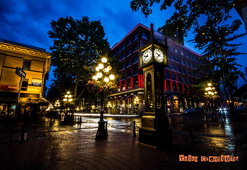 Historical Steam Clock, Gas Town, Vancouver. BC