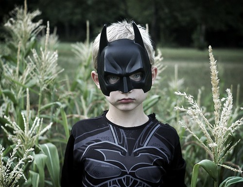 Grandson Gabe in Batman costume
