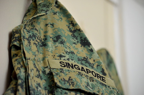 The Singapore Army No. 4 Pixelised Uniform