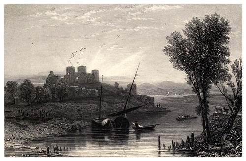 003-Castillo de Rhuddlan en el rio Clwyd-Wanderings and excursions in North Wales (1853)- Thomas Roscoe