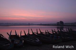 Amarapura - U Bein Bridge at dawn