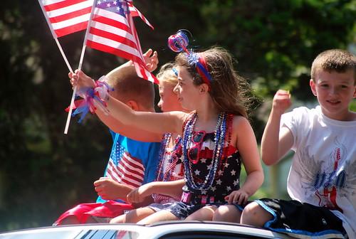 4th - patriotic kids