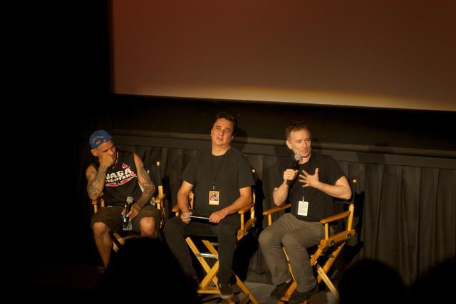 Harley Flanagan, Steven Blush & Paul Rachmen at American Hardcore screening