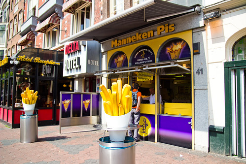 Manneken Pis in Amsterdam