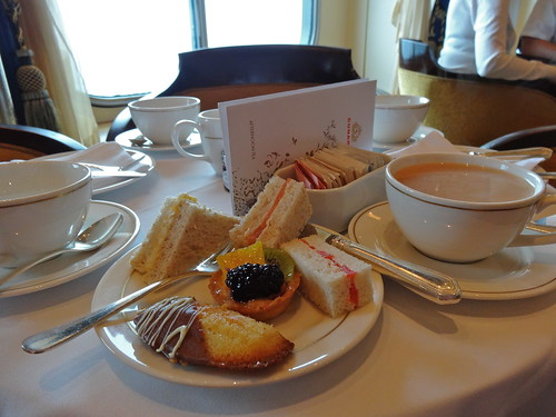 Afternoon Tea aboard Cunard's Queen Mary 2