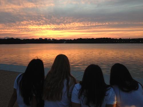 NSLC LAWA Observes the Sunset during Washington at Night
