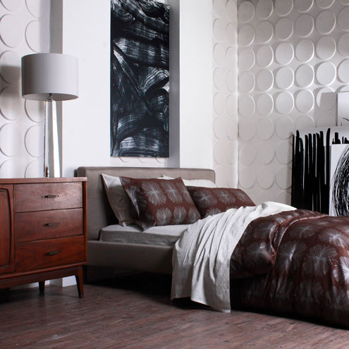 Create your own atmosphere like Inhabit living with 3d wall panels from WallArt!
