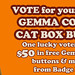 Enter to Win $50 in Cat Badges from Gemma Corell & Badge Bomb! by badge bomb