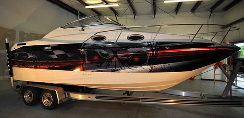 Boat wrap by TechnoSigns in Orlando, Florida
