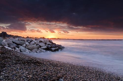 sunset sea costa beach nature colors clouds river coast nikon riviera tramonto nuvole mare natural emotion wind fiume natura rimini soul anima colori spiaggia vento rivabella emozione nohdr d7000