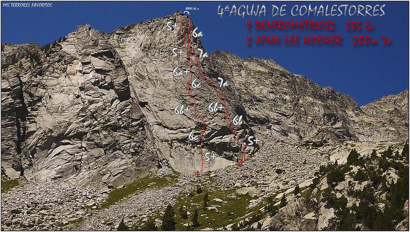 RESEÑA JOHN LEE HOOKER 200m 7a Y DENTROMETI2 235 6c - 4º AGUJA DE COMALESTORRES - CAVALLERS