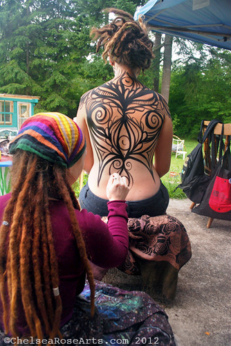 WIP Earth Goddess body painting