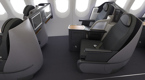 American Airlines A321 transcon business class